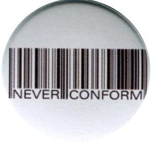 37mm Magnet-Button: Barcode - Never conform