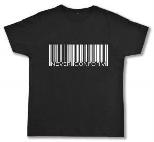 Fairtrade T-Shirt: Barcode - Never conform