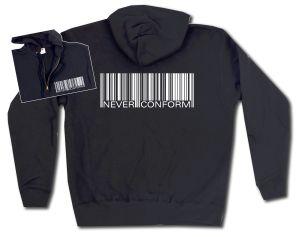 Kapuzen-Jacke: Barcode - Never conform