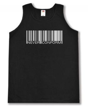 Tanktop: Barcode - Never conform