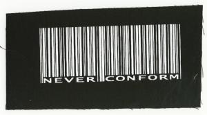 Aufnäher: Barcode - Never conform
