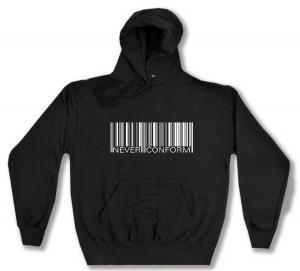 Kapuzen-Pullover: Barcode - Never conform