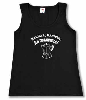 tailliertes Tanktop: Barista Barista Antifascista