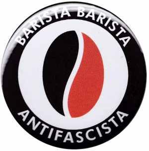 25mm Button: Barista Barista Antifascista (Bohne)