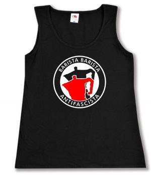 tailliertes Tanktop: Barista Barista Antifascista (Moka)