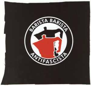 Aufnäher: Barista Barista Antifascista (Moka)