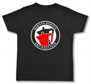 Fairtrade T-Shirt: Barista Barista Antifascista (Moka)