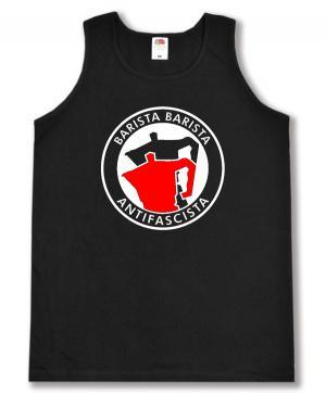 Man Tanktop: Barista Barista Antifascista (Moka)