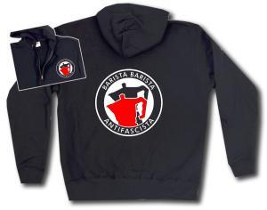 Kapuzen-Jacke: Barista Barista Antifascista (Moka)