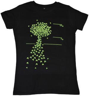 tailliertes T-Shirt: Baum