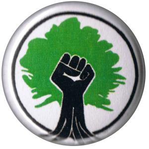 37mm Magnet-Button: Baumfaust