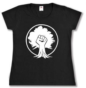 tailliertes T-Shirt: Baumfaust