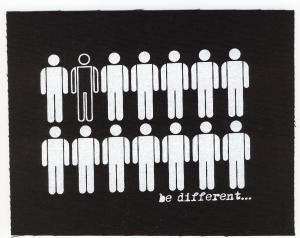 Aufnäher: Be different