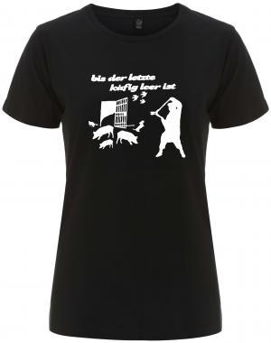 tailliertes Fairtrade T-Shirt: Bis der letzte Käfig leer ist