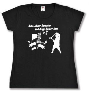 tailliertes T-Shirt: Bis der letzte Käfig leer ist