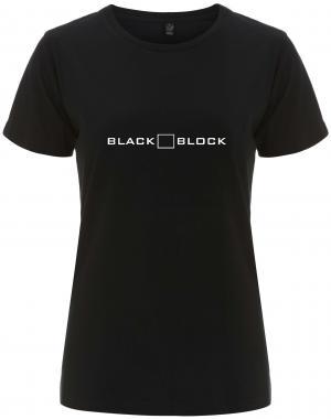 tailliertes Fairtrade T-Shirt: Black Block