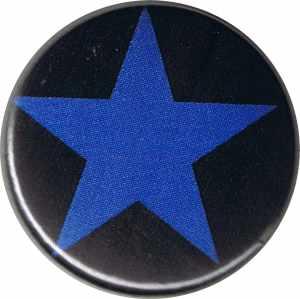 37mm Button: Blauer Stern