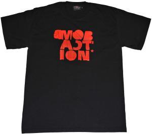 T-Shirt: Block (schwarz/rot)