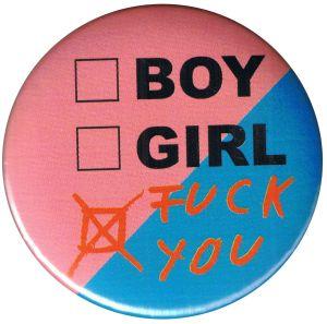 50mm Button: boy girl fuck you