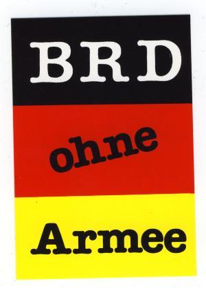 Aufkleber: BRD ohne Armee