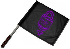 Fahne / Flagge (ca. 40x35cm): Break free (lila)