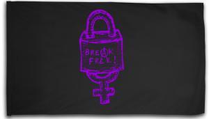 Fahne / Flagge (ca. 150x100cm): Break free (lila)