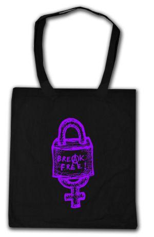 Baumwoll-Tragetasche: Break free (lila)