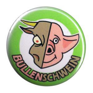 37mm Magnet-Button: Bullenschwein