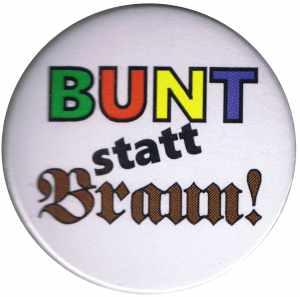 25mm Button: Bunt statt braun