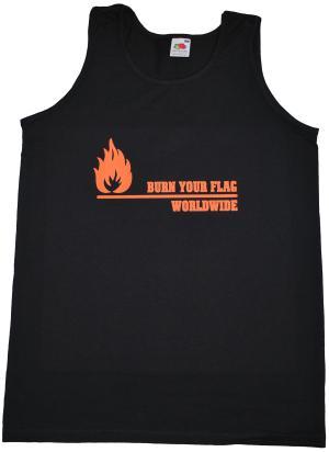 Tanktop: Burn your flag - worldwide