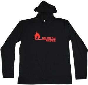 Kapuzen-Longsleeve: Burn your flag - worldwide (red)