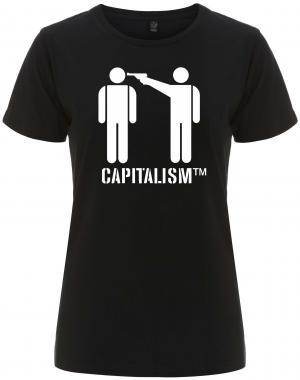 tailliertes Fairtrade T-Shirt: Capitalism [TM]
