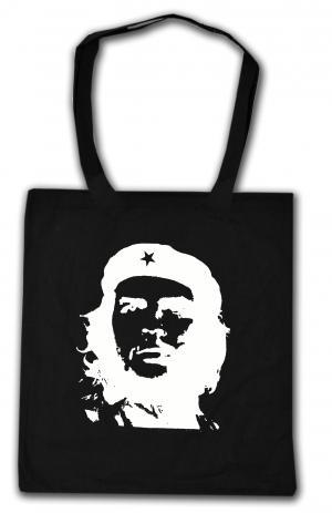 Baumwoll-Tragetasche: Che Guevara (weiß/schwarz)
