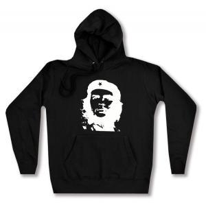 taillierter Kapuzen-Pullover: Che Guevara (weiß/schwarz)