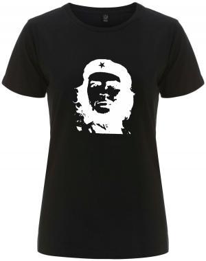 tailliertes Fairtrade T-Shirt: Che Guevara (weiß/schwarz)