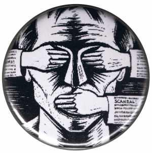 25mm Magnet-Button: consume! sensationalism! scandal!