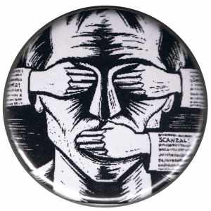 50mm Button: consume! sensationalism! scandal!