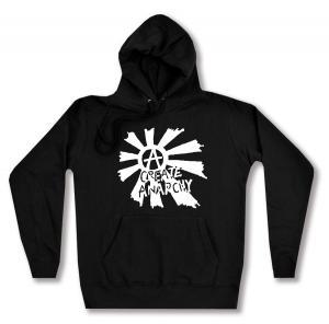 taillierter Kapuzen-Pullover: Create Anarchy
