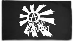 Fahne / Flagge (ca. 150x100cm): Create Anarchy