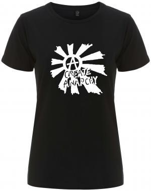 tailliertes Fairtrade T-Shirt: Create Anarchy
