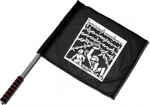 Fahne / Flagge (ca. 40x35cm): Cross Border
