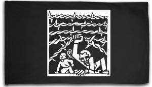 Fahne / Flagge (ca. 150x100cm): Cross Border