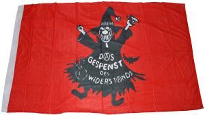 Fahne / Flagge (ca. 150x100cm): Das Gespenst des Widerstands