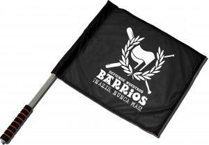 Fahne / Flagge (ca. 40x35cm): Defiende nuestros Barrios