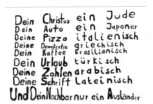 Aufkleber: Dein Christus ein Jude ...