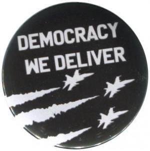 37mm Magnet-Button: Democracy we deliver