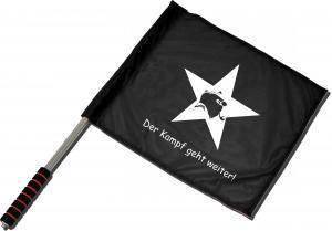 Fahne / Flagge (ca. 40x35cm): Der Kampf geht weiter!