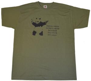 T-Shirt: destroy racism - be like a panda