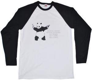 Longsleeve: destroy racism - be like a panda