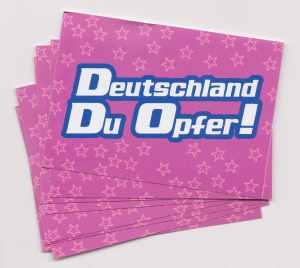 Aufkleber-Paket: Deutschland du Opfer! - pink